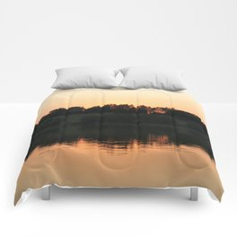 Summer sunset over the lake | Landscape photography Comforters
