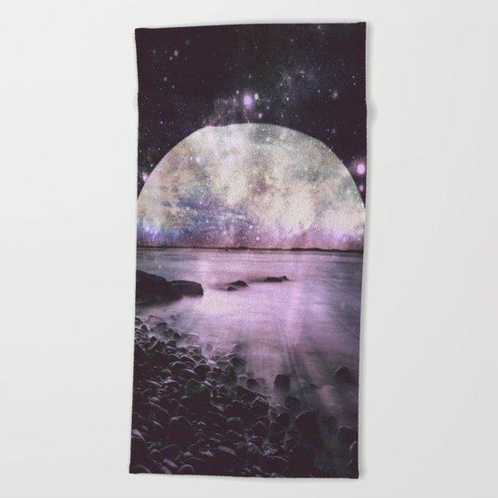 Mystic Lake Lavender Beach Towel