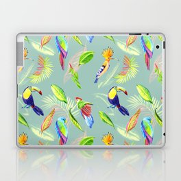 tropical pattern with bird parrot and toucan Laptop & iPad Skin