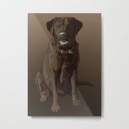 Chocolate Labrador Retriever Brown Dog Metal Print
