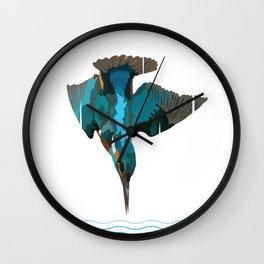 Kingfisher are majestic Wall Clock