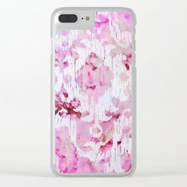 Magenta Ombre Southwest Scrollwork Print Clear iPhone Case