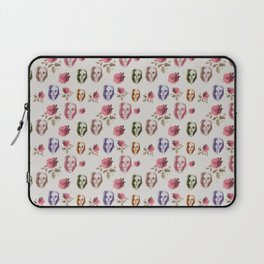 dead girl and roses pink Laptop Sleeve