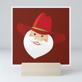 Santa Claus. Cowboy. Mini Art Print