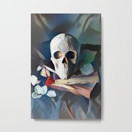 Ceremonial Skull | AI-Generated Art Metal Print