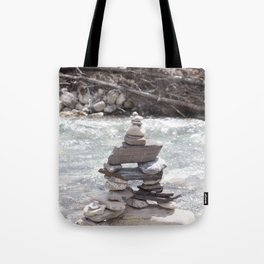 Johnson Canyon Inukshuk Tote Bag