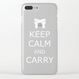 Keep Calm and Carry Clear iPhone Case