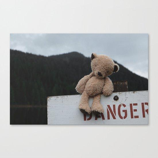 Be Bear Aware Canvas Print
