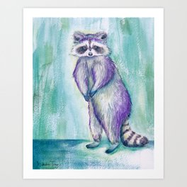 Midnight Raccoon Art Print