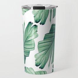 Tropical Banana Leaves Dream #3 #foliage #decor #art #society6 Travel Mug