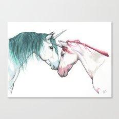 Unicorns in love <3 Canvas Print