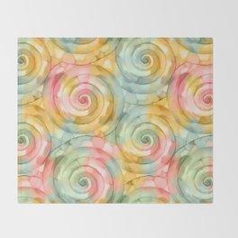 Mooving Spiral Throw Blanket