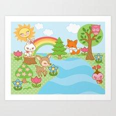 Sweet Forest Print Art Print