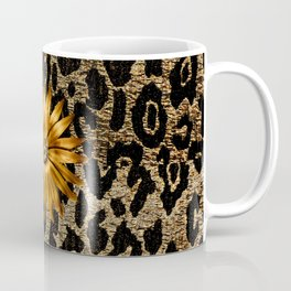 Animal Print Cheetah Triple Gold Coffee Mug