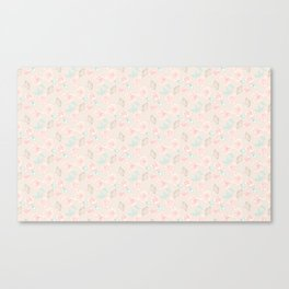 Pastel flowers roses Canvas Print
