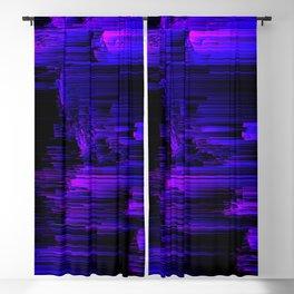 Ultraviolet Light Speed - Abstract Glitch Pixel Art Blackout Curtain