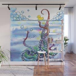 Bath Time Octopus Wall Mural