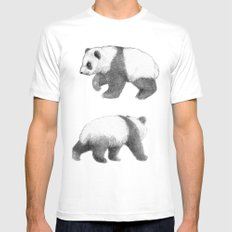 Walking Panda sketchSK062 Mens Fitted Tee White MEDIUM
