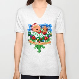 Ms. Claus (2 of 7 Characters) Unisex V-Neck