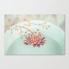 Vintage flower floating Canvas Print