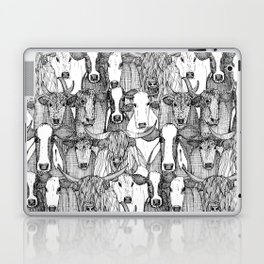 just cattle black white Laptop & iPad Skin