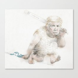 Caveman Donald Trump Canvas Print