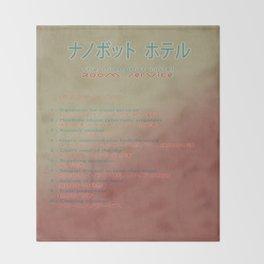 The Nanobot Hotel Room Service Pamphlet Throw Blanket