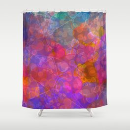 Colorful Untitled Abstract Shower Curtain