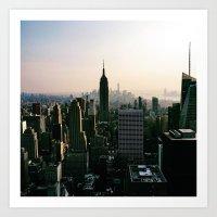 The city that scraped the sky  Art Print
