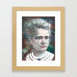 MARIE CURIE - watercolor portrait.2 Framed Art Print