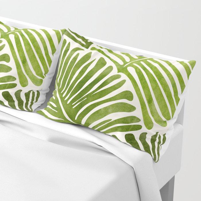 Summer Fern / Simple Modern Watercolor Pillow Sham