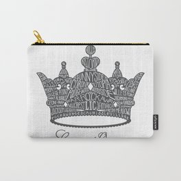 County of Queens | NYC Borough Crown (GREY) Carry-All Pouch