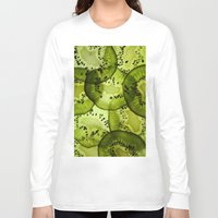 kiwi Long Sleeve T-shirts featuring kiwi by Claudia Araujo