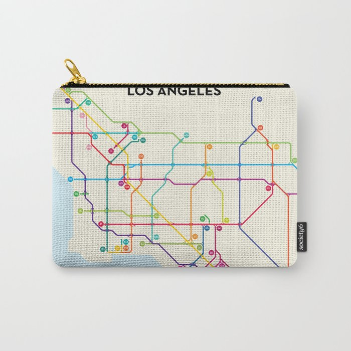 Los Angeles Freeway System Carry-All Pouch