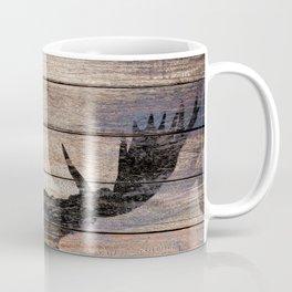 Rustic Black Moose Silhouette A424b Coffee Mug