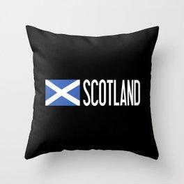 Scotland: Scottish Flag & Scotland Throw Pillow