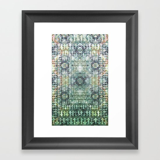 Snake Bones Framed Art Print
