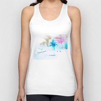 preppy Tank Tops featuring Preppy Beach by EPART