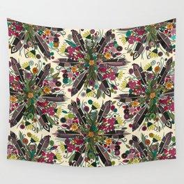 bohemian posy cream Wall Tapestry