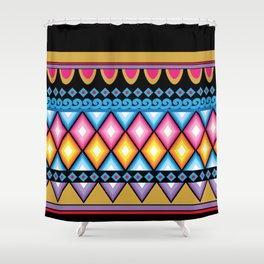 Haight and Ashbury inspired boho hippie illustration Shower Curtain