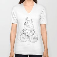 fairies V-neck T-shirts featuring Christmas Fairies by Alice