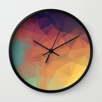 polygon Wall Clocks featuring Polygon by Zhavorsa