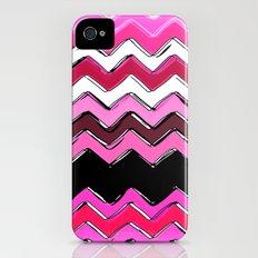 pink chevron iPhone (4, 4s) Slim Case