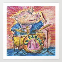 Ed Pigpen Art Print