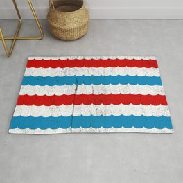 Waves Vintage Minimal Modern Nautical Rug