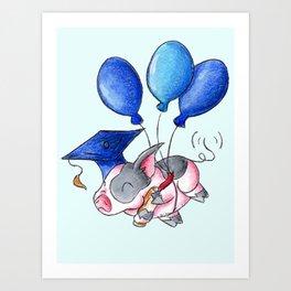 Graduation Party Piggy Art Print