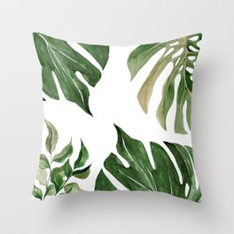 Nature Tropical Leaf Throw Pillow