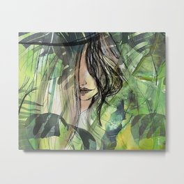 Girl in jungle Metal Print