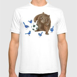 Blue wrens Wombat Football T-shirt
