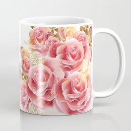 Artistic Pink Roses Coffee Mug